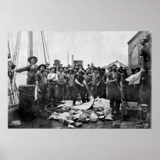Fishermen 1888 Puget Sound - Washington Poster