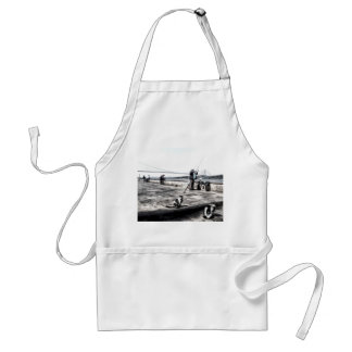 Fishermen And Cats Istanbul Art Adult Apron