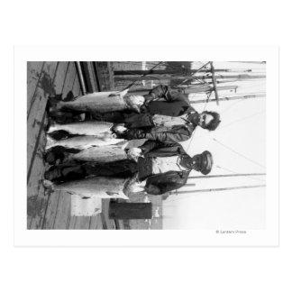 Fishermen and Salmon on Docks, Washington Postcard