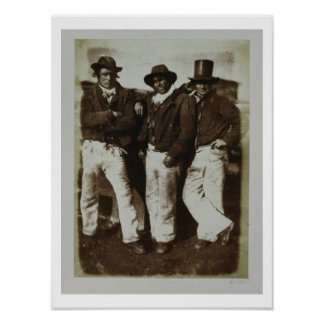 Fishermen Ashore, c.1843-47 (salt paper print from