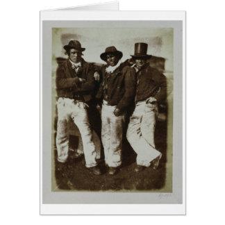 Fishermen Ashore, c.1843-47 (salt paper print from Card