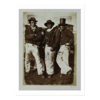 Fishermen Ashore, c.1843-47 (salt paper print from Postcard