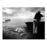 Fishermen at Ballantrae, Scotland Postcard