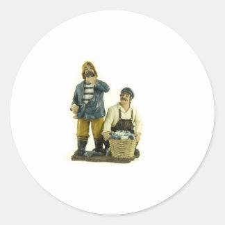 Fishermen Classic Round Sticker
