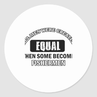 Fishermen designs classic round sticker
