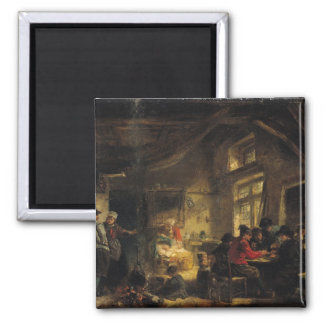 Fishermen from the Island of Marken 2 Inch Square Magnet
