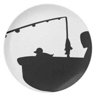 fishermen fun melamine plate