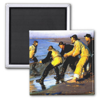 Fishermen Hauling the Net on Skagen's North Beach Magnet