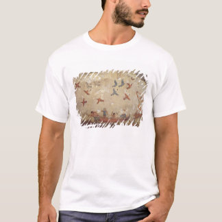 Fishermen in a boat and birds flying T-Shirt