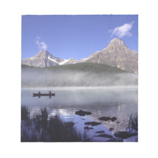 Fishermen in canoe on Waterfowl Lake, Banff Notepad