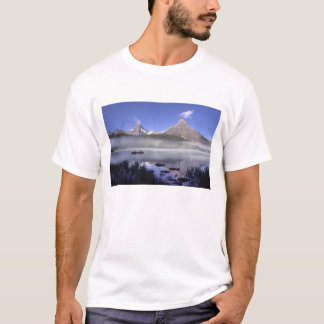 Fishermen in canoe on Waterfowl Lake, Banff T-Shirt