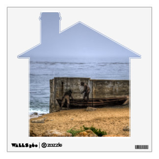 Fishermen Mural Wall Sticker