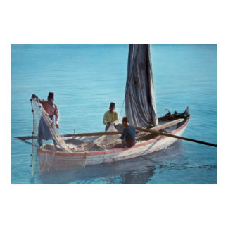 Fishermen on the Sea of Galilee Poster