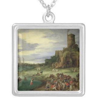 Fishermen on the Shore Custom Necklace