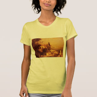 Fishermen on the Terrace by Franz Unterberger Tee Shirts