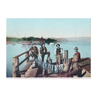 Fishermen Showing the Day's Catch Canvas Print