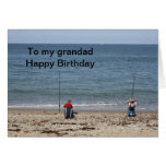 Fishermen  To my grandad Happy Birthday Card
