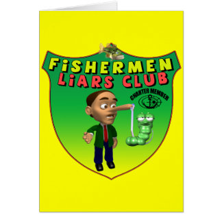 Fishermens Liars Club T-shirts and Gifts Card