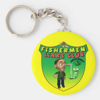 Fishermens Liars Club T-shirts and Gifts Key Chain