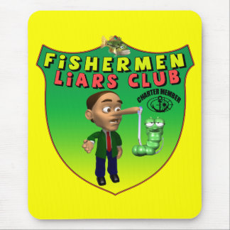Fishermens Liars Club T-shirts and Gifts Mouse Mat