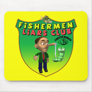 Fishermens Liars Club T-shirts and Gifts Mouse Pad