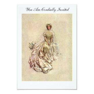 "Fisher's 1902 American Girl ~ Beautiful Bride 3.5"" X 5"" Invitation Card"