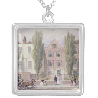 Fisher's House, Lower Street, Islington, 1838 Silver Plated Necklace