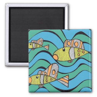 Fishers of men 2 inch square magnet
