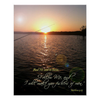 'Fishers of men' Bible Verse Poster