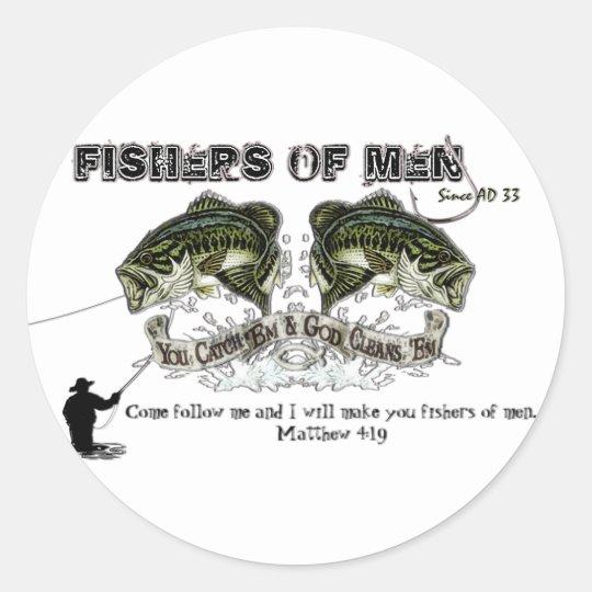 FISHERS OF MEN CLASSIC ROUND STICKER