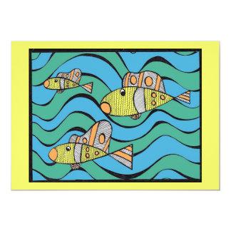 "Fishers of men 5"" x 7"" invitation card"