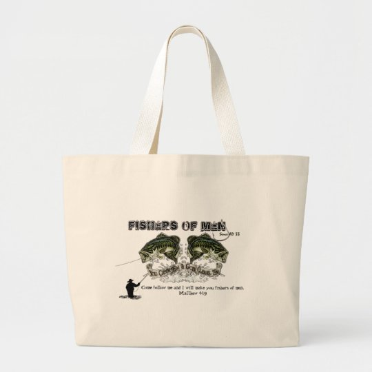 FISHERS OF MEN LARGE TOTE BAG
