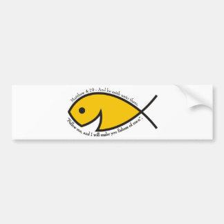 Fishers Of Men - Matthew 4:19 Bumper Sticker
