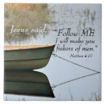 Fishers of Men Scripture Ceramic Tile
