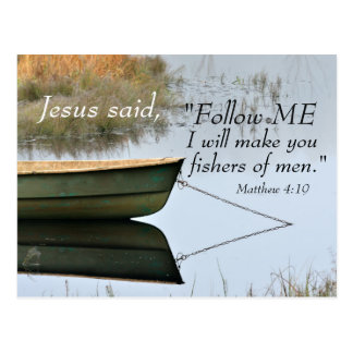 Fishers of Men Scripture Postcard