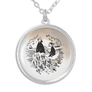 Fishers Silver Plated Necklace