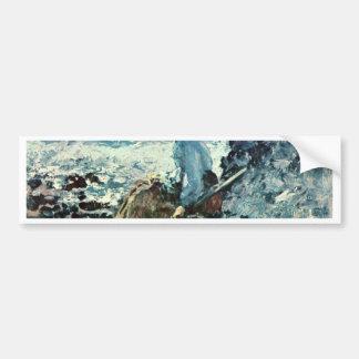 Fisherwoman From Granville By Grigorescu Nicolae Car Bumper Sticker