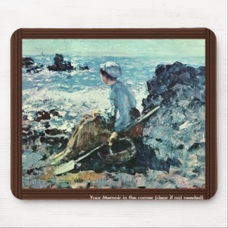 Fisherwoman From Granville By Grigorescu Nicolae Mouse Pads