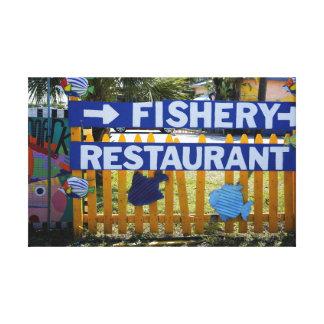 Fishery Restaurant Canvas Print