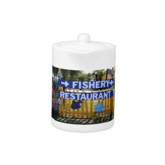 Fishery Restaurant Teapot