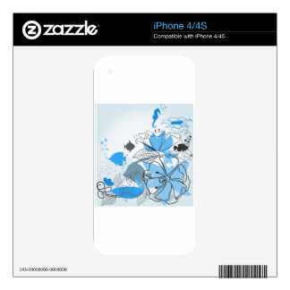 Fishes a flower decal for the iPhone 4S