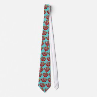 Fishes and Coral Doodle Art Tie
