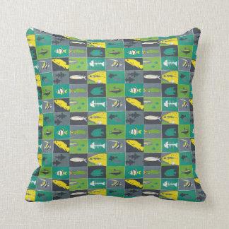fishes beach house decor pattern throw pillows