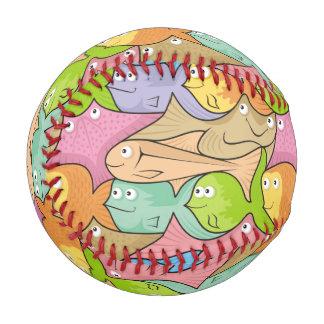 Fishes cartoon baseball