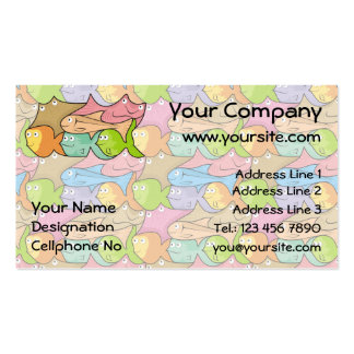 Fishes cartoon business card