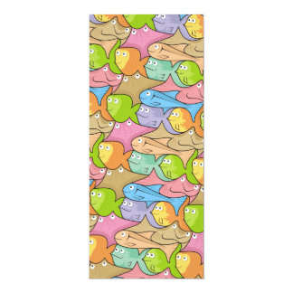 Fishes cartoon card
