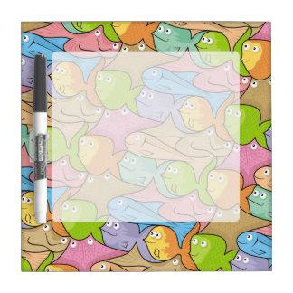 Fishes cartoon dry erase board