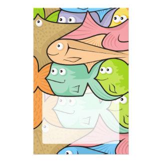 Fishes cartoon flyer