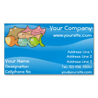 Fishes cartoon magnetic business card