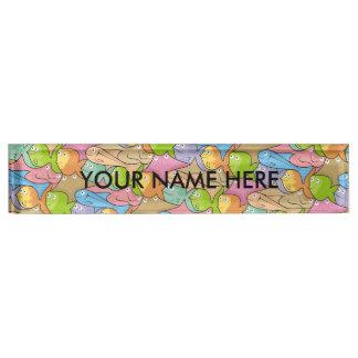 Fishes cartoon name plate